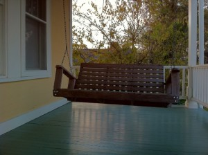 Petivan Plantation Guesthouse front porch swing