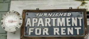 Corporate Apartment for rent sign
